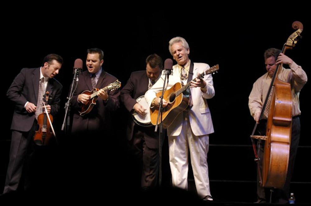 Del McCoury performing.